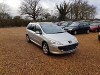 2006 Peugeot 307 1.6 Diesel Estate Pan Roof 12 Months MOT Service History Cheap Car