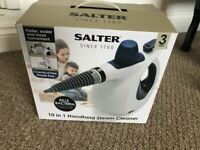 Salter handheld steam cleaner. Only used once. As-new condition