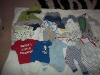 Children's bundle of clothes Ages 1-2 used but in good condition, around 25 items