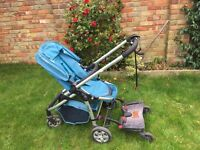 iCandy Cherry Pram and pushchair and buggy board and accessories