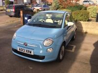 Fiat 500 Colour therapy 3dr petrol sky light blue hatchback full service history female driver