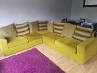 Gorgeous green corner sofa