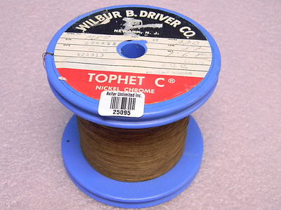 220 Roll Of Tophet C Nickel Chrome Wire 10.8ft. 32awg Qq-r-175