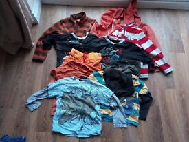 Bundle of secondhand boys clothing and trainers ages 6-8