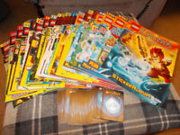 Lego chima Magazines issues 2-23 plus Sticker book and 30 chima cards
