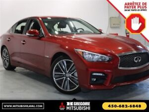 2015 Infiniti Q50 Hybrid AWD Sunroof GPS Cuir Bluetooth Camera