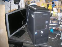 FULL COMPUTER FOR SALE montor,mouse,cables,everything you need to get going £50