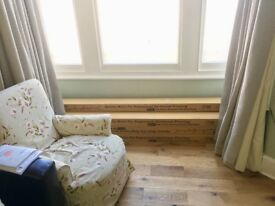 Quality engineered oak floorboards - 10 sqm new & still boxed
