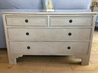Painted Oak Chest Of Drawers/Hall Table/Linen Storage