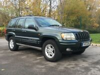 Jeep Grand Cherokee WJ 4.0 auto LPG / gas converted green, low milage