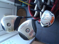 Yonex cyberstar 3/5 woods and Ping G10 utility for sale - Buyer collects