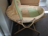 Mamas and Papas Moses Basket with folding stand