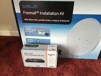 SLX Satellite freesat installation and satellite receiver