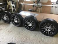 """Vw T5 t6 alloy wheels and tyres 20"""" brand new"""