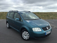2003 VW TOURAN S TDI 1 OWNER FROM NEW FULL SERVICE HISTORY NEW 12 MONTHS MOT!