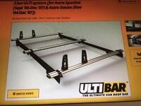 Roof bars for Vauxhall astra van