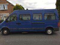 Renault Master blue minibus conversion