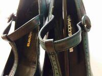 Jade 'Salvador Sapena' T-bar brouge heels, UK size 4
