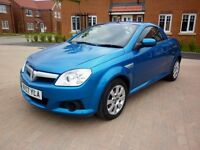2007/07 VAUXHALL TIGRA 1.4 TWINPORT MET BLUE.LOW MILES.EXCELLENT CONDITION.**SUMMERS HERE*CHEAP CAR*