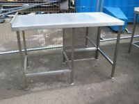 Stainless steel center table bench.