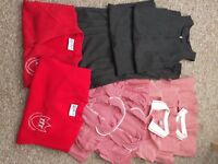 SCHOOL GIRL UNIFORM 4-5YEASR AND KICKERS SHOUE FOR GILR SIZE10
