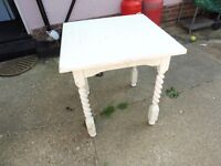 SOLID HARDWOOD SQUARE TABLE (OLD PUB TABLE) DINING