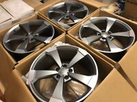 "4 x NEW 19"" AUDI ROTOR TURBINE ALLOY WHEELS 5x112 5 112 AUDI A5 VW golf mk5 mk6 a3 w203 class"