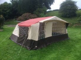 Used once marquee tent