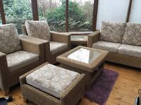 6 piece cane conservatory furniture set