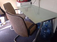 Frosted Glass Table & Chairs