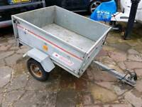 Erde 101 galvanised tipping trailer