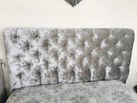 Silver crushed velvet HEADBOARD