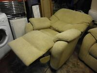 RECLINING EASY CHAIR ( ELECTRIC ) AND A NON RECLINING CHAIR