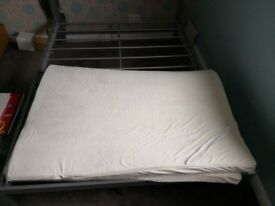 Double Bed Frame & Mattress Topper