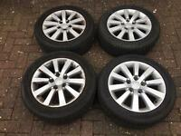 Honda Civic 16 inch alloys mint condition with good tread on tyres for sale £130 on offer
