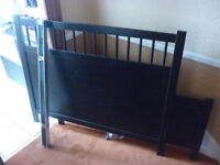 slatted black king size bed hemnes with mattress ikea pocket sprung mattress sultan hagavik ergomaxx