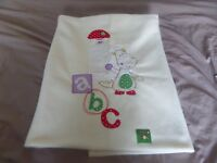 Mamas and Papas cotbed pack - fleece blanket, bed bumper and small duvet