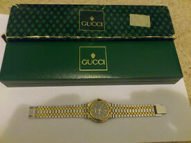 Authentic Gucci 9000M Two-Tone Stainless Steel Quartz Men's or Women's Watch