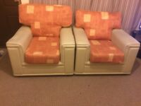 Two single sofas, both for £10 only.