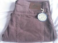 NEW PRETTY GREEN CORDUROY CORD JEANS SIZE 36in WAIST 32in LEG DESIGNED BY LIAM GALLAGHER