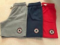 3 x boys converse shorts 5-6 years