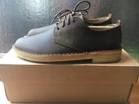 Brand New CLARKS MENS DARK BROWN SHOES, BEESWAX DESERT LEATHER SMARTS size 6