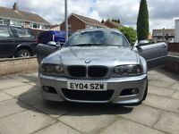 E46 BMW m3 smg , cosmic grey , red leather , sat Nav , ac, FSH , 12 months not