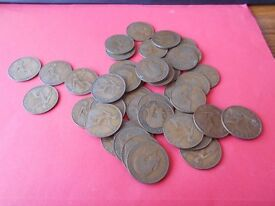BAG OF 1921 UK PENNY COIN, APPRO. 40 IN TOTAL