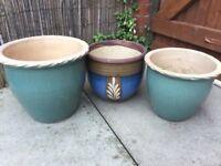 3 pot plant pots