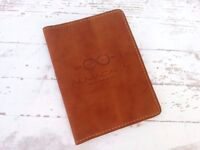 Real leather passport cover