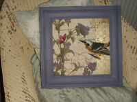 Beautiful framed Oriental style bird print / picture