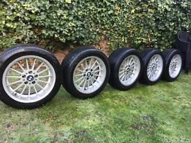 """BMW E38 18"""" GENUINE STAGGERED STYLE 32 WHEELS SET OF 5"""