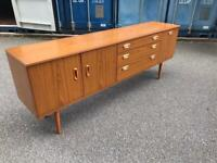 Vintage sideboard possible delivery 200 cm long 45 d 73 cm h