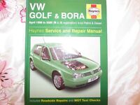 USED HAYNES WORKSHOP MANUAL VW GOLF &BORA 1998-2000 PETROL&DIESEL